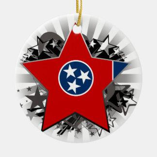 Tennessee Star Ceramic Ornament