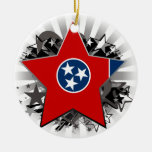 Tennessee Star Christmas Tree Ornaments
