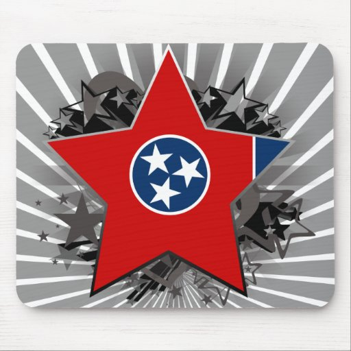 Tennessee Star Mouse Pads