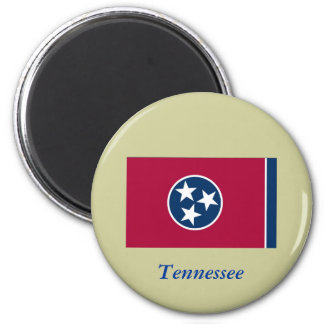 Tennessee State Flag 2 Inch Round Magnet