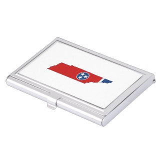 Tennessee State Flag and Map Case For Business Cards