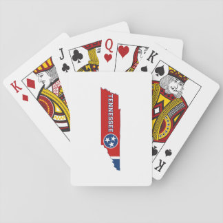 Tennessee State Flag and Map Playing Cards