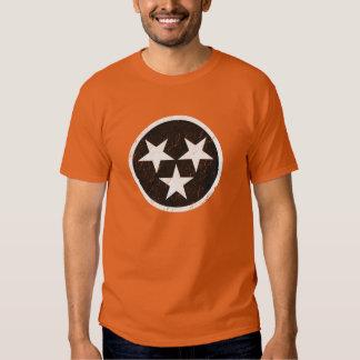 Tennessee State Flag Black & White Grunge T Shirt