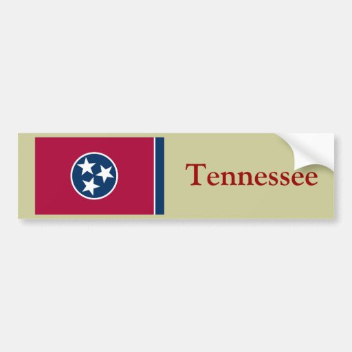 Tennessee State Flag Bumper Stickers