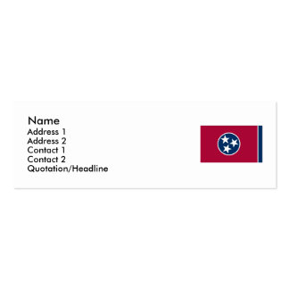 Tennessee State Flag Double-Sided Mini Business Cards (Pack Of 20)