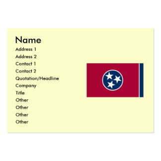 Tennessee State Flag Large Business Cards (Pack Of 100)