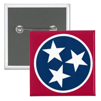 Tennessee State Flag 2 Inch Square Button