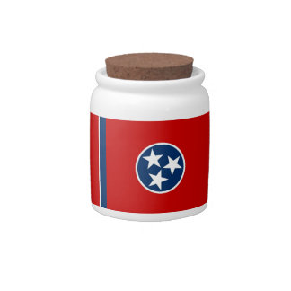 Tennessee State Flag Candy Jar