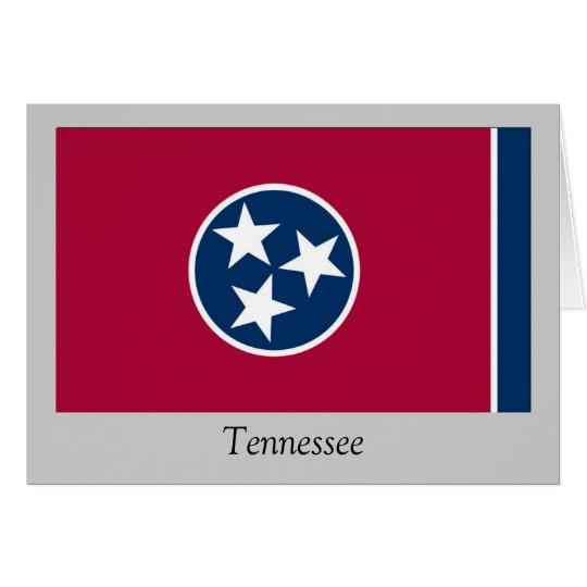 Tennessee State Flag Card