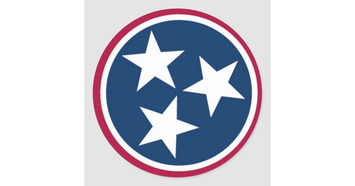 Tennessee State Flag Classic Round Sticker Zazzle Com