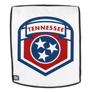 Tennessee State Flag Crest Shield Style Backpack