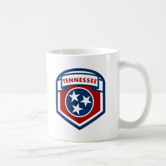 Tennessee State Flag Crest Shield Style Coffee Mug