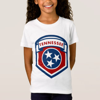 Tennessee State Flag Crest Shield Style T-Shirt