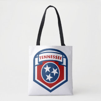 Tennessee State Flag Crest Shield Style Tote Bag