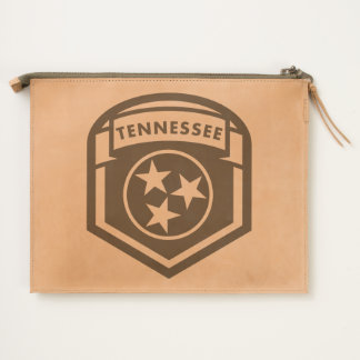 Tennessee State Flag Crest Shield Style Travel Pouch