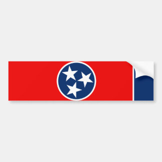 Tennessee State Flag Design Bumper Sticker