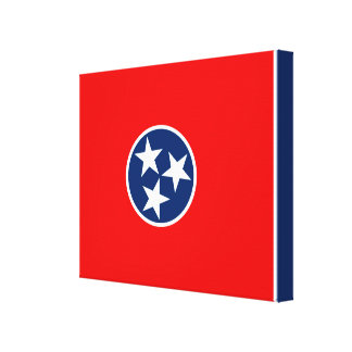 Tennessee State Flag Design Canvas Print