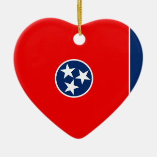 Tennessee State Flag Design Ceramic Ornament