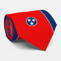 Tennessee State Flag Design Neck Tie