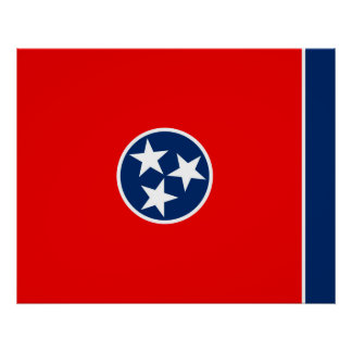 Tennessee State Flag Design Poster