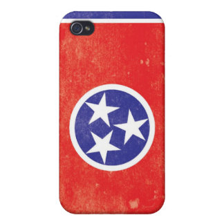 Tennessee State Flag Distressed Cover For iPhone 4