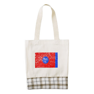 Tennessee State Flag (Distressed) Zazzle HEART Tote Bag