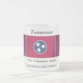 Tennessee State Flag Frosted Glass Coffee Mug