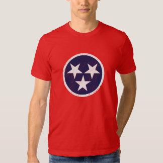 Tennessee State Flag Grunge Nashville Love Shirt
