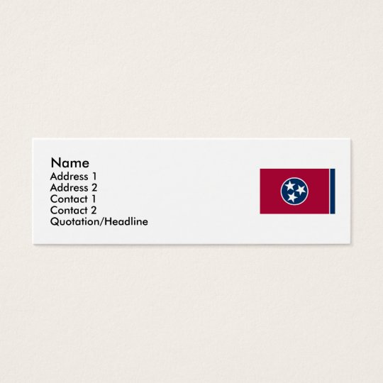 Tennessee State Flag Mini Business Card