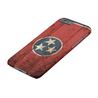 Tennessee State Flag on Old Wood Grain Barely There iPhone 6 Case