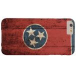 Tennessee State Flag on Old Wood Grain Barely There iPhone 6 Plus Case