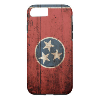 Tennessee State Flag on Old Wood Grain iPhone 7 Case