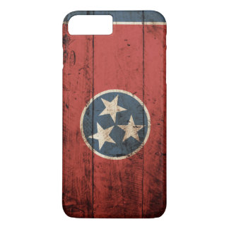 Tennessee State Flag on Old Wood Grain iPhone 7 Plus Case
