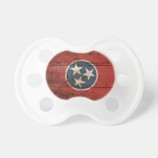Tennessee State Flag on Old Wood Grain Pacifier