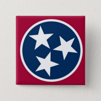 Tennessee State Flag Pinback Button