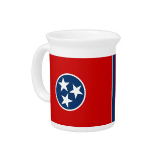 Tennessee State Flag Pitcher