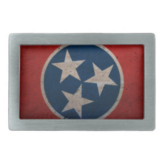Tennessee State Flag Rectangular Belt Buckle