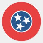 Tennessee State Flag Round Sticker