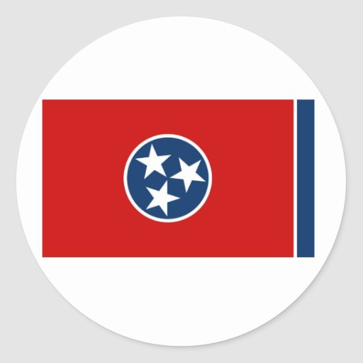 Tennessee State Flag Round Stickers