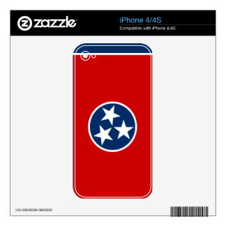 Tennessee State Flag Skin For iPhone 4S