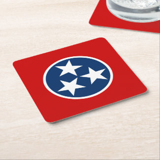 Tennessee State Flag Square Paper Coaster