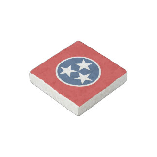 Tennessee State Flag Stone Magnet