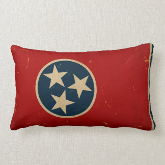Tennessee State Flag VINTAGE Lumbar Pillow