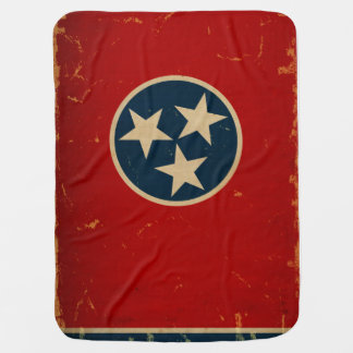Tennessee State Flag VINTAGE Swaddle Blankets