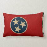 Tennessee State Flag VINTAGE Throw Pillow