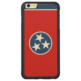 Tennessee State Flag Carved® Maple iPhone 6 Plus Bumper Case