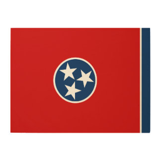 Tennessee State Flag Wood Wall Decor