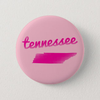 Tennessee state in pink pinback button