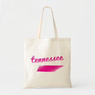 Tennessee state in pink tote bag