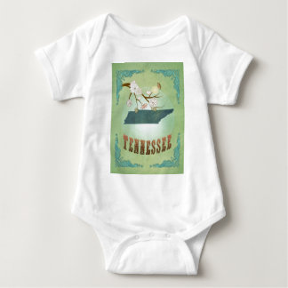 Tennessee State Map – Green Baby Bodysuit